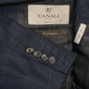 40S Canali 1934 Current Tailored Dark Blue BLAZER